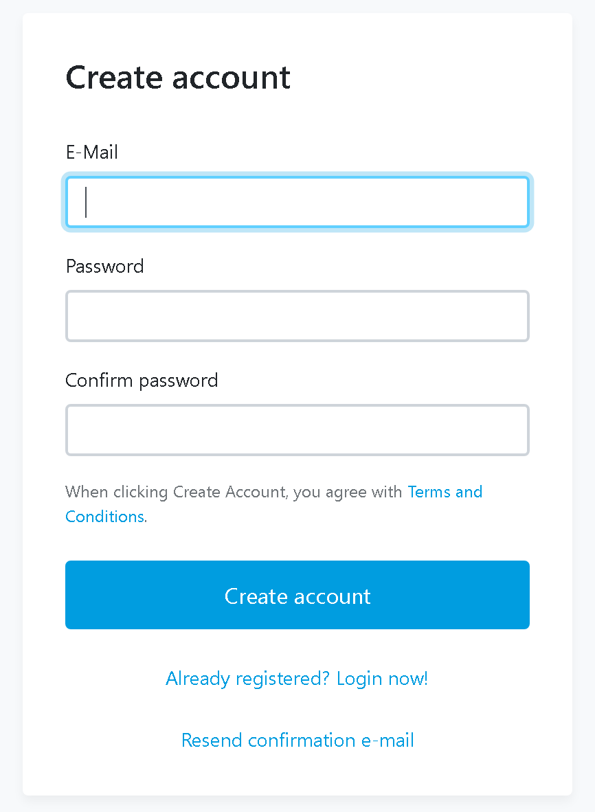 Auth User Registration