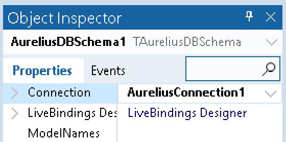 TAureliusDBSchema inspector